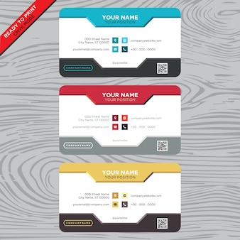 Business card with classical design