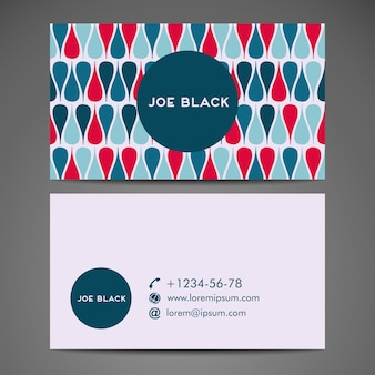 Business card with colorful ethnic pattern design
