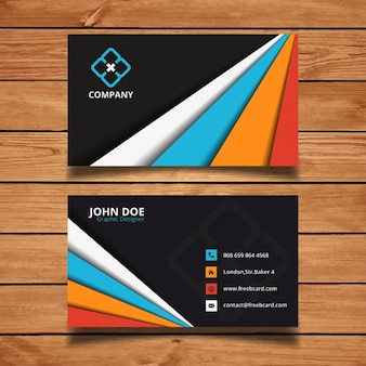 Business card with colorful shapes