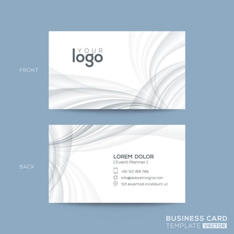 Business card with dynamic shapes