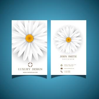Business card with elegant flower design