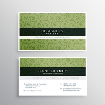 Business card with elegant ornaments