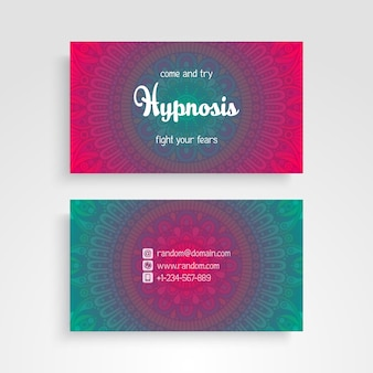 Business card with ethnic elements