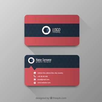 Business card with geometric pattern