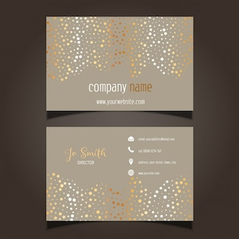 Business card with gold stars