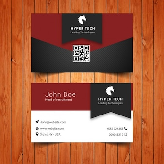 Business card with horse logo