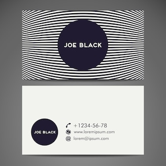 Business card with lines pattern design