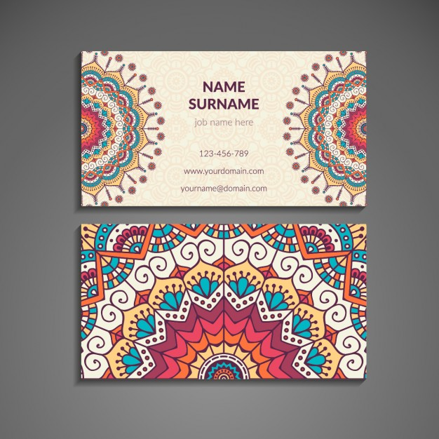 Business card with mandala