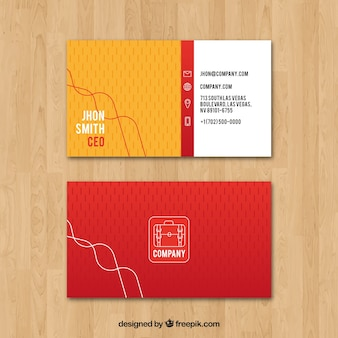 Business card with modern lines