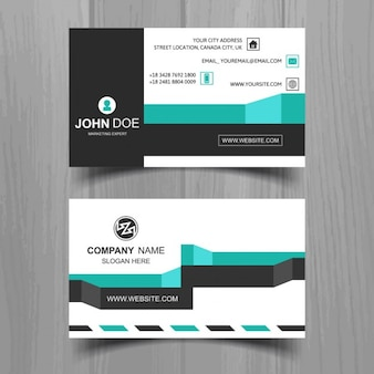 Business card with modern stripes