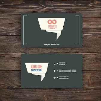 Business card with origami banner