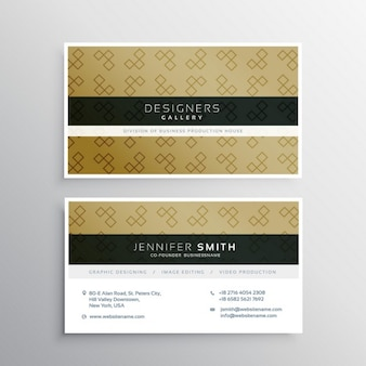 Business card with ornaments
