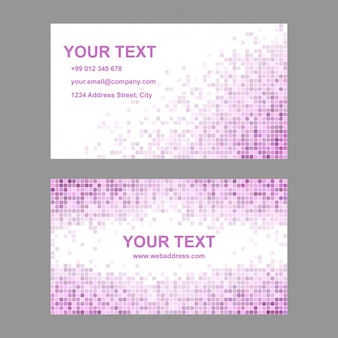 Business card with pixelated shapes