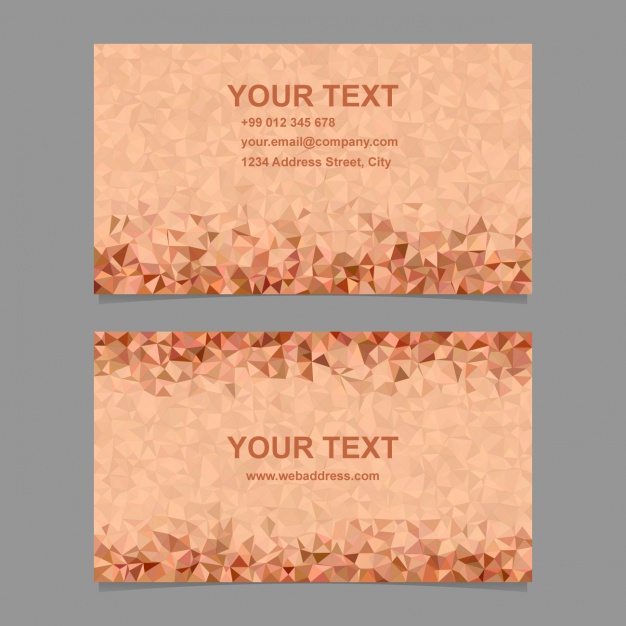 Business card with polygonal shapes