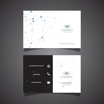 Business card with techno connecting dots design