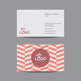 Business card with vintage pattern