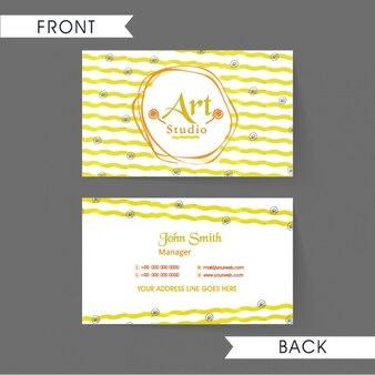 Визитная карточка с волнистыми линиями