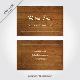 Business card with white rectangle