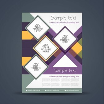 Business colorful brochure design