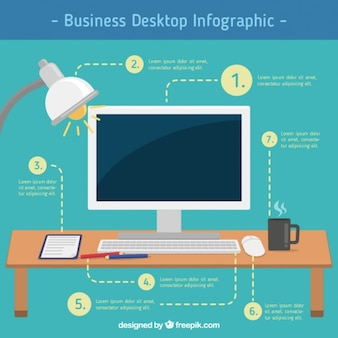 business desktop infographic
