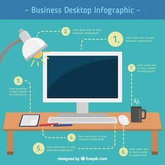 business desktop infographic