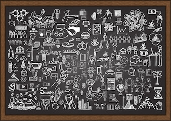ビジネス要素は、黒板に
