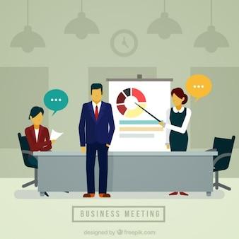 Business exhibition illustration