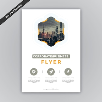 Business flyer geometric desig