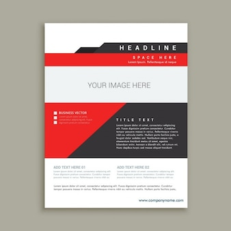 Business flyer template in abstract design