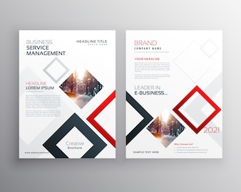Business flyer template with rectangular shapes