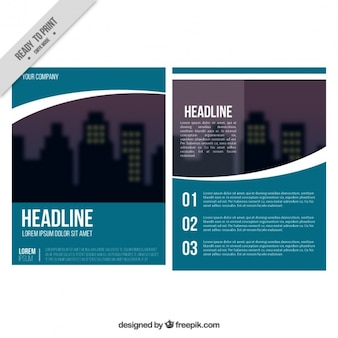 Business flyer template with white details