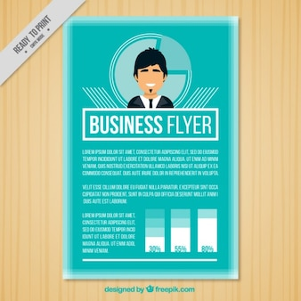 Business flyer with a businessman
