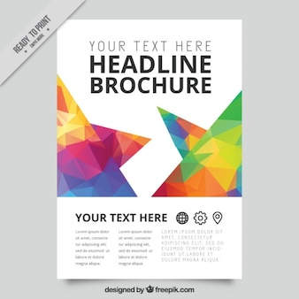 Business flyer with colorful polygons