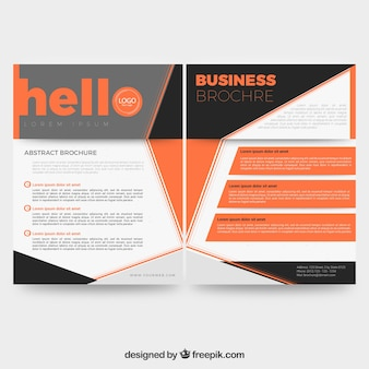 Business flyer with geometric shapes