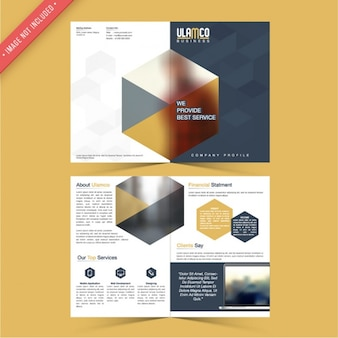 Business flyer with hexagons