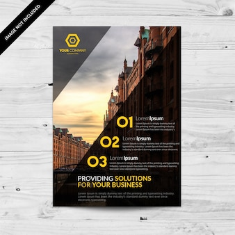 Business flyer with numbers