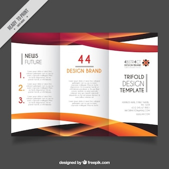 Business flyer with orange wavy forms