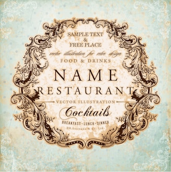 Business food baroque frame old