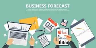 Business forecast banner