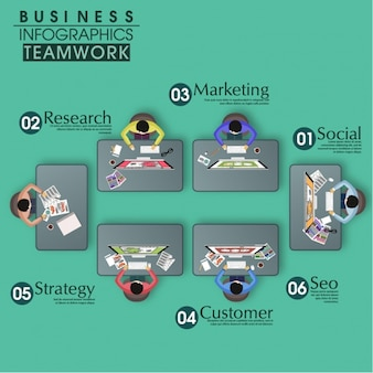 Business infographic of teamwork