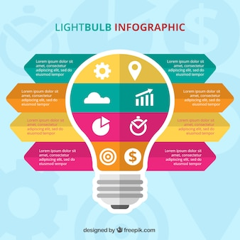 Business infographic template with different phases