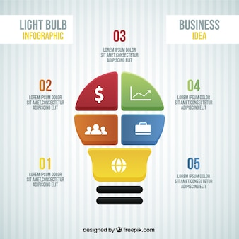Business infographic with five phases