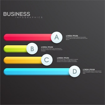 Business infographic with four phases
