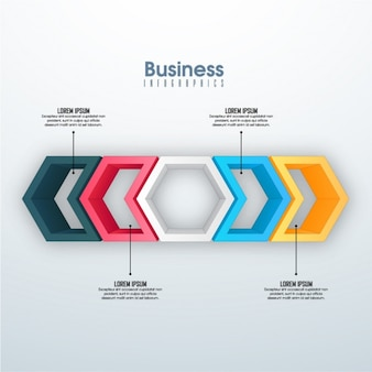 Business infographic with geometric shapes