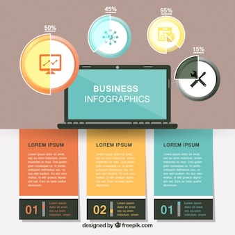 Business infographics with different options