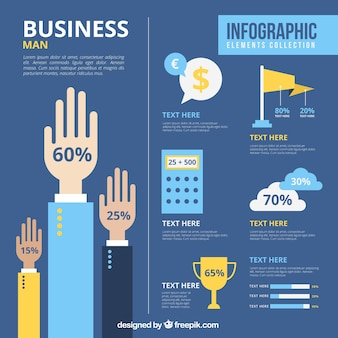 Business infography in flat design