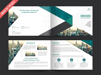 Business leaflet template with color elements