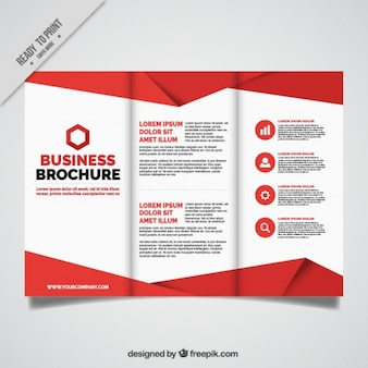 Business leaflet with red details