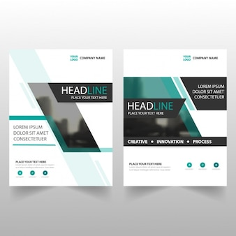 Business leaflets with unfocused parts