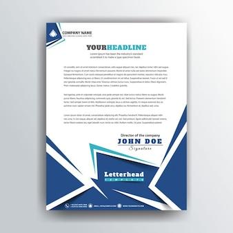 Business letterhead in polygonal style